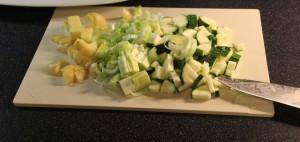 Kuttede grønnsaker