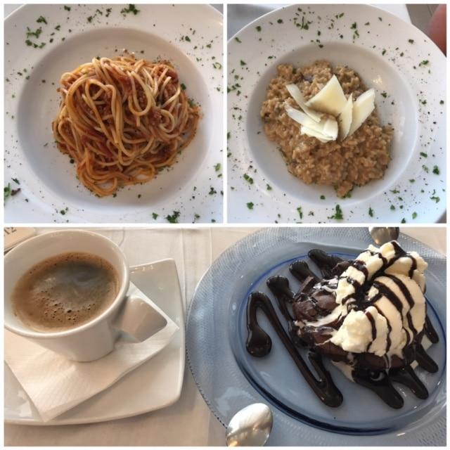 Lunsj med sjokoladesufflé til dessert