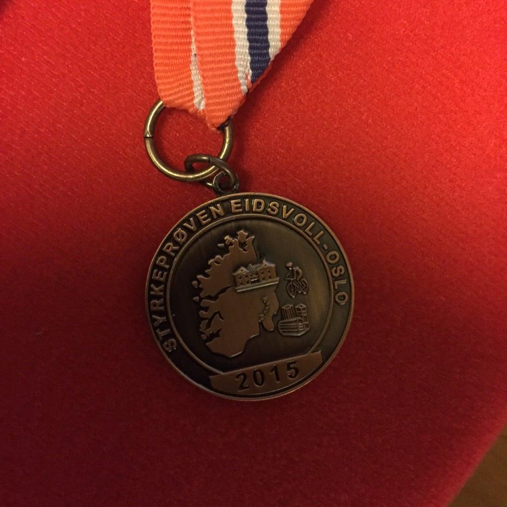 Medalje, Eidsvoll-Oslo 2015