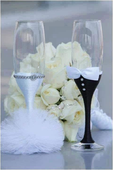 bryllupsglass delikat