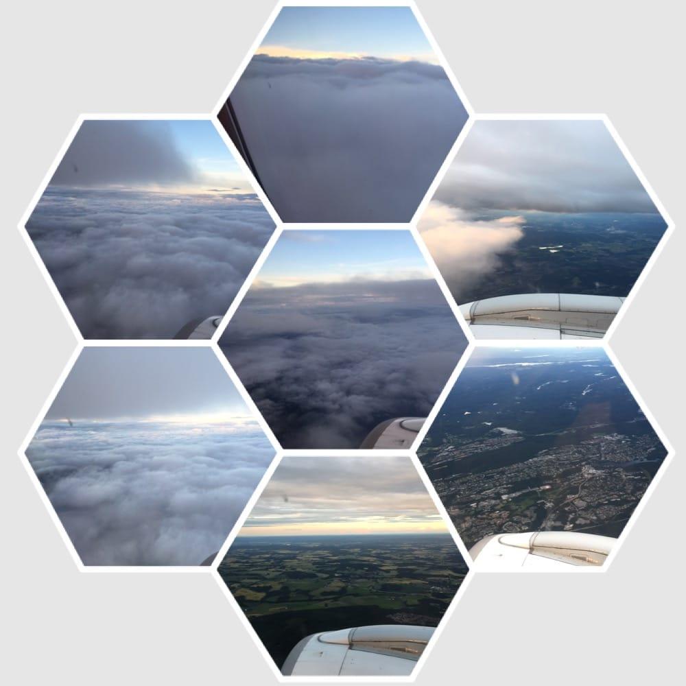 himmel og land over Norge