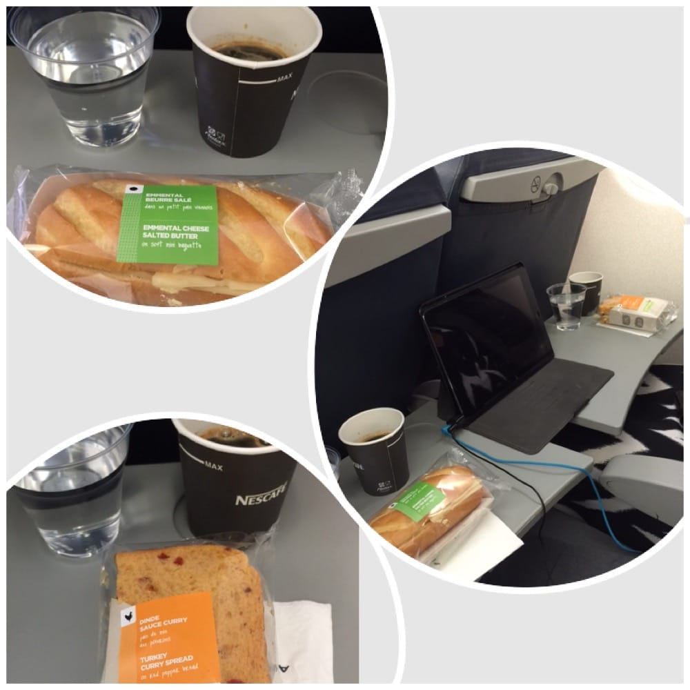 middag på flyet