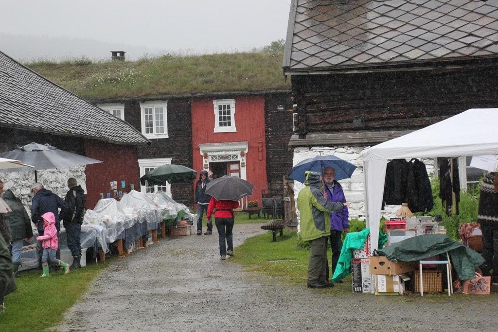 regnfull dag på Dølmotunet