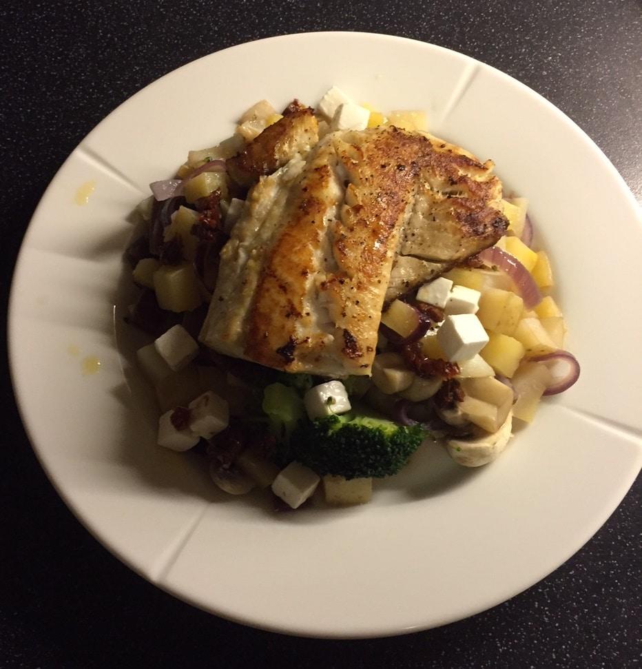 Sunne middagstips, Sei med høstgrønnsaker
