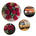 9 års bryllupsdag, roser og sushi